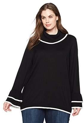 Calvin Klein Women's Plus Size Cowl W/Dubble Ruffle
