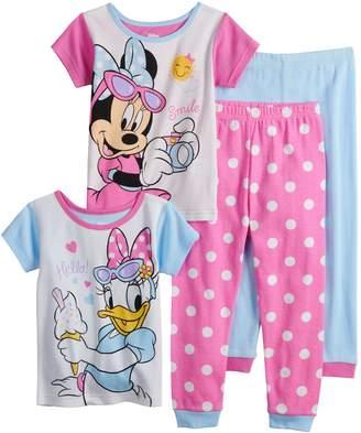 Disney Disney's Minnie Mouse & Daisy Duck Toddler Girl Tops & Bottoms Pajama Set