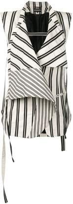 Ann Demeulemeester striped gilet