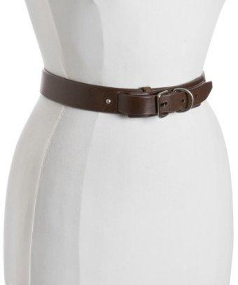 Prada brown leather d-ring detail belt