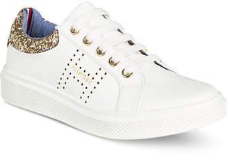 Tommy Hilfiger (トミー ヒルフィガー) - Tommy Hilfiger Glam Baseline Glitter Sneakers, Little Girls & Big Girls