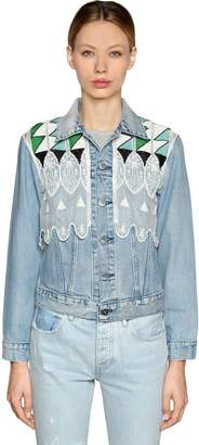 Levi's Embroidered Denim Trucker Jacket