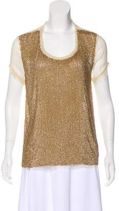 Christophe Sauvat Semi-Sheer Sequin Top