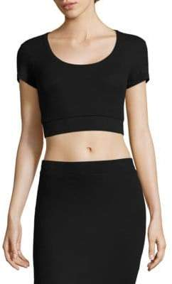 ATM Anthony Thomas Melillo Ribbed Crop Top