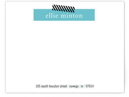 Bar Graph Business Stationery Cards