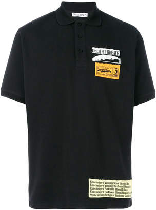 J.W.Anderson patch detail polo shirt