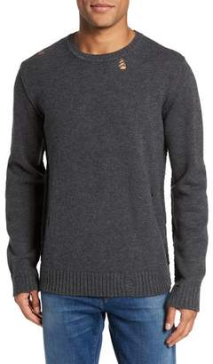 AG Jeans Thoman Slim Destructed Crew Pullover