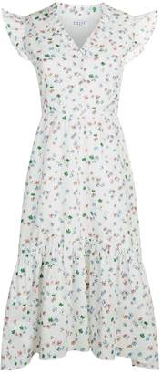 Claudie Pierlot Floral Ruffle Dress