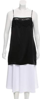 Reformation Sleeveless Lace Trim Top