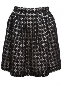 Peter Som Crochet Mini Skirt
