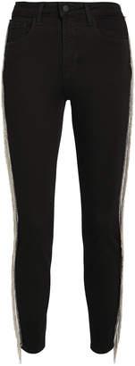L'Agence Margot Chain Fringe Skinny Jeans