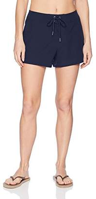 "Nautica Women's Solid Boardshorts 3"" Swim Shorts"