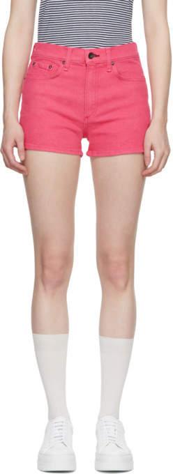 Pink Denim Justine Shorts