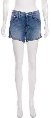 Mother Mid-Rise Mini Shorts