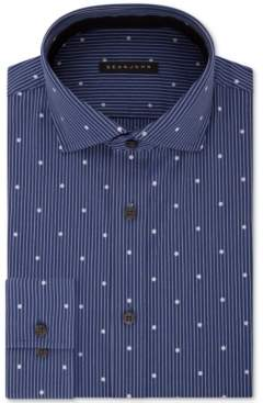 Sean John Men's Classic/Regular Fit Blue Print Dress Shirt