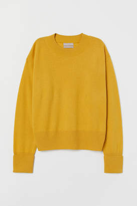 H&M Fine-knit Cashmere Sweater - Yellow