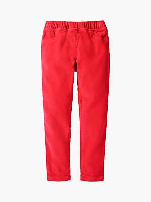 Boden Mini Girls' Corduroy Leggings, Red