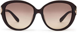 Salvatore Ferragamo SF802SA Black Round Sunglasses