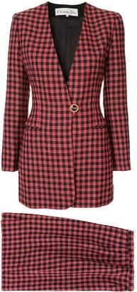 Christian Dior Pre-Owned 1980s long sleeve setup jacket skirt