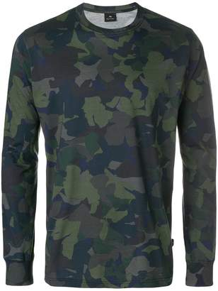 Paul Smith camouflage print longsleeved T-shirt