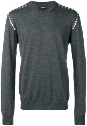 Les Hommes eyelet detail knitted sweatshirt