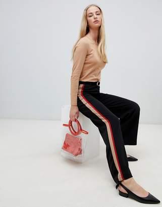 New Look Side Stripe Wide Leg PANTS