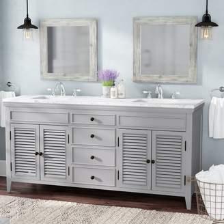"Laurèl Foundry Modern Farmhouse Grovetown 73"" Double Bathroom Vanity Set Base"