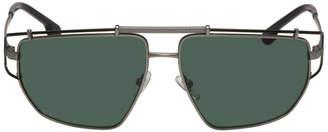 Versace Gunmetal Greek Wire Sunglasses
