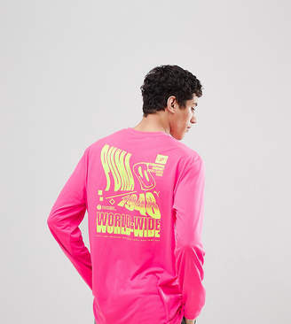 Puma Long Sleeve T-Shirt With Graphic Print In Pink Exclusive To ASOS