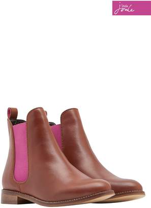 Next Girls Joules Tan Leather Chelsea Boot