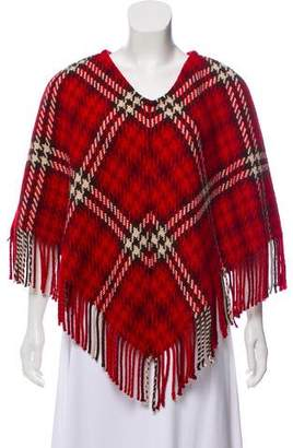 Burberry Cashmere Patterned Poncho