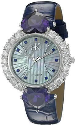 Adee Kaye Women's AK2424-BU Sweet Heart Collection Analog Display Analog Quartz Watch