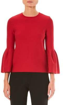 Carolina Herrera Bell Sleeve Top