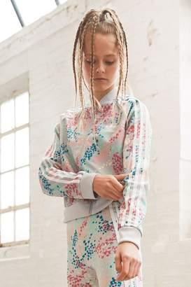adidas Girls Floral Superstar Track Top - Pink