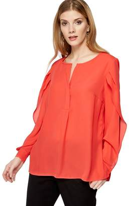 Principles Coral Split Sleeve Top