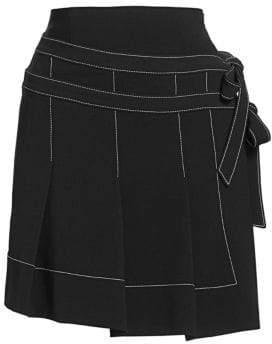 Cinq à Sept Ingrid Pleated Mini Skirt