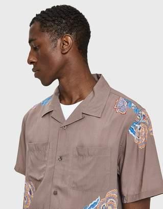 Stussy Hana Printed Shirt in Brown