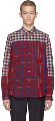 Paul Smith Red Cut-Up Plaid Shirt