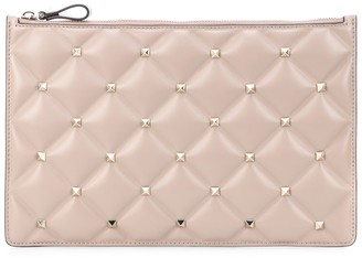Valentino Candystud leather clutch