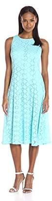 Tiana B Women's Sleevless Lace Midi Dress with Princess Seams