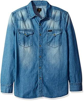 Lee Men's Heritage Western Long Sleeve Denim Shirt