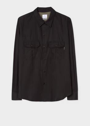 Paul Smith Men's Classic-Fit Black Two-Pocket Cotton Shirt