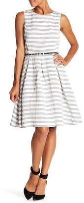 Nine West Striped Pleated Skirt Dress