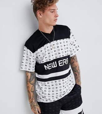 New Era mesh t-shirt in white exclusive to asos