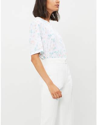 Joseph Floral-print cotton-jersey T-shirt
