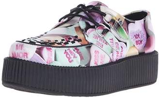 T.U.K. Women's Candy Hearts Print Creeper Oxford