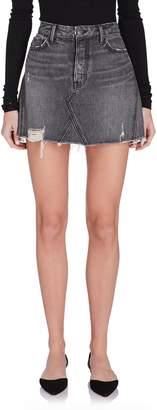 Grlfrnd Denim Eva Denim Mini Skirt in Grey
