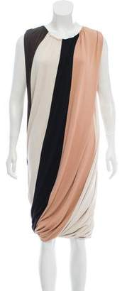 Lanvin Striped Sleeveless Dress