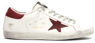 Golden Goose Super Star Low Top Leather Trainers - Mens - Red White
