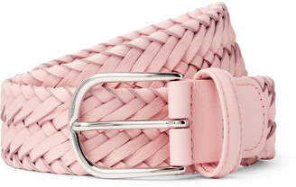 Andersons Anderson's - 3.5cm Light-Pink Woven Leather Belt